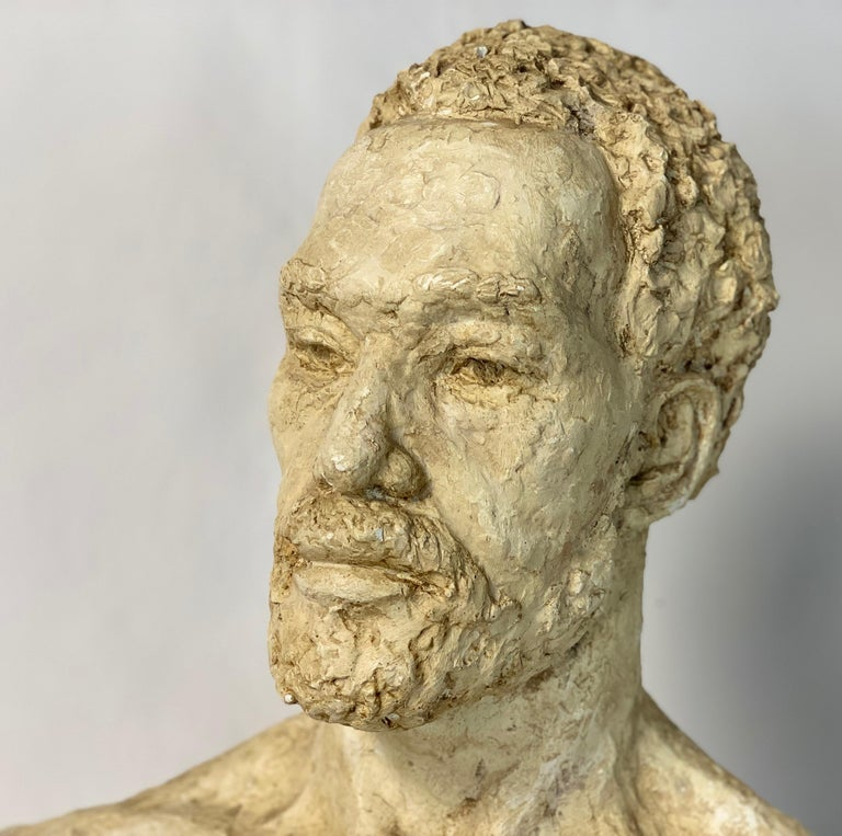 Mid-20th Century Plaster Bust For Sale 2