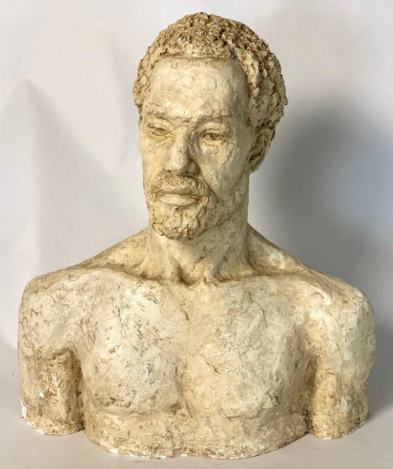 Mid-20th Century Plaster Bust For Sale 3