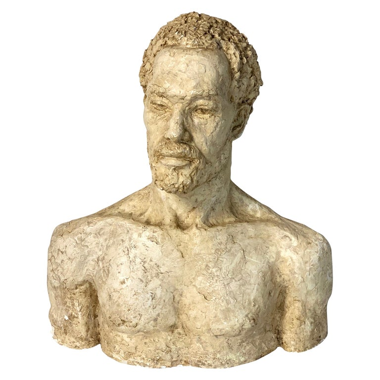 Mid-20th Century Plaster Bust For Sale