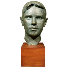 Mid-20th Century Plaster Bust of a Young Man, by Harold Sampson Pfeiffer S.S.C