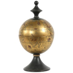 Mid-20th Century Porcelain Covered World Globe Piece