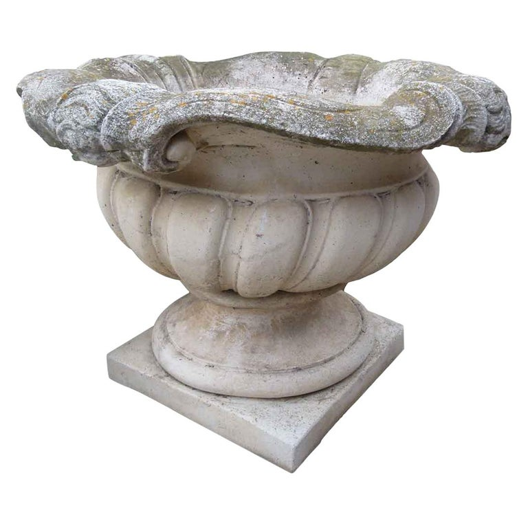 Mid-20th Century Reconstituted Stone Urn in Classical Greek Style For Sale