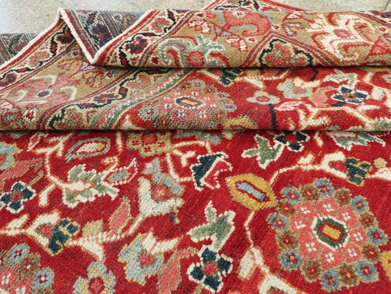 Mid-20th Century Red Persian Mahal Carpet For Sale 4