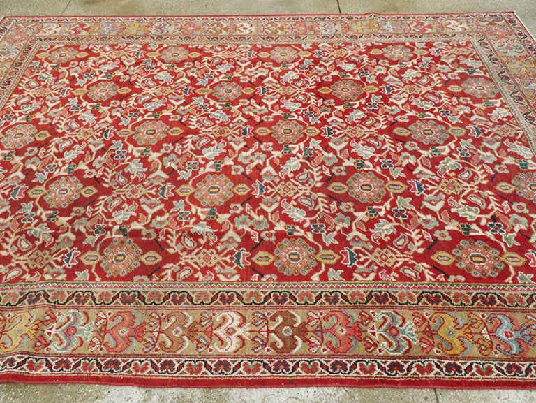 Mid-20th Century Red Persian Mahal Carpet For Sale 3