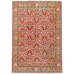 Mid-20th Century Red Persian Mahal Carpet