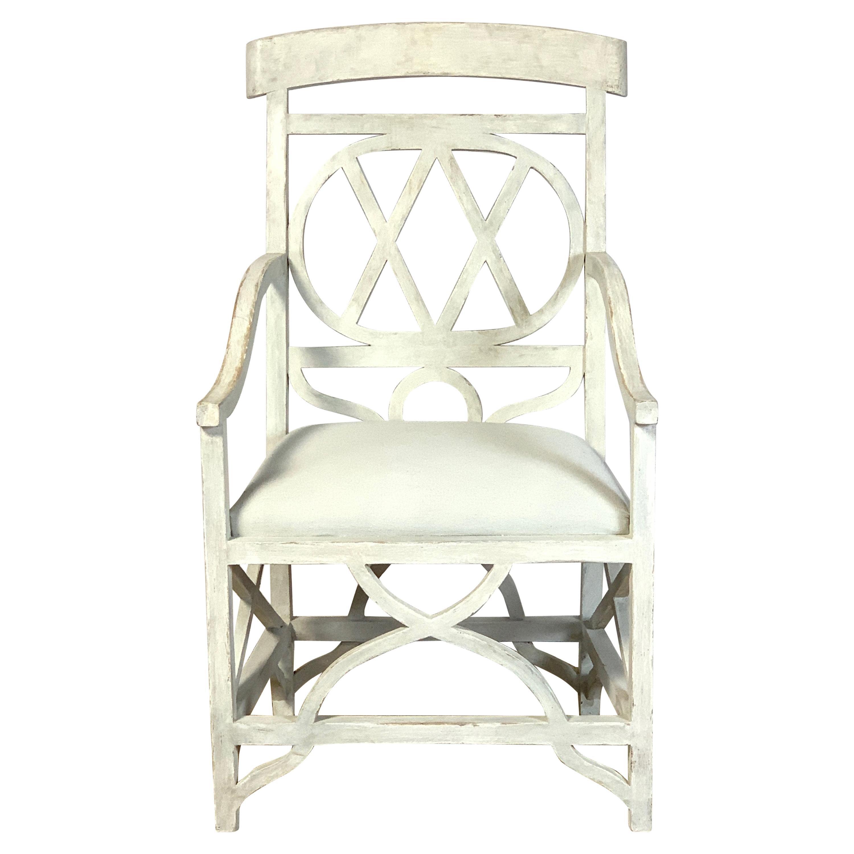 Mid-20th Century Regency Style Sculptural Armchair