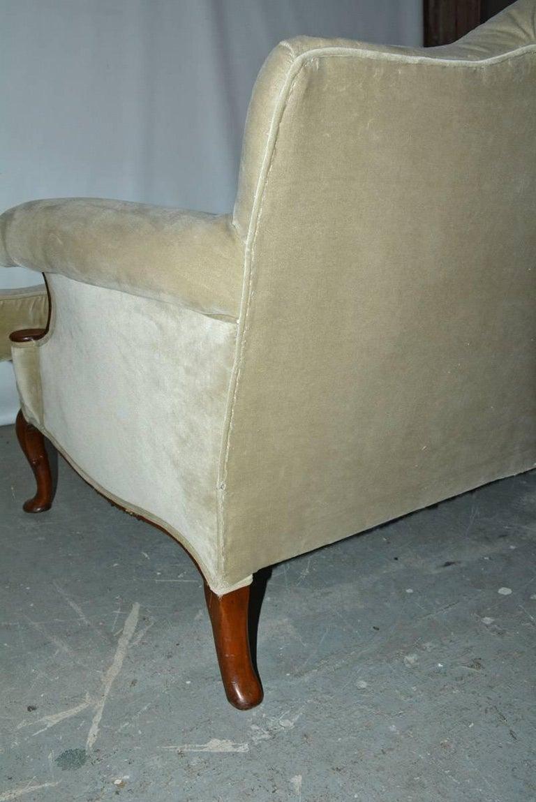 Mid-20th Century Regency Style Velvet Sofa For Sale 5