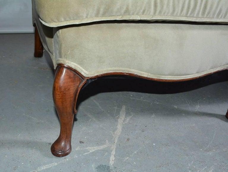 Mid-20th Century Regency Style Velvet Sofa For Sale 1