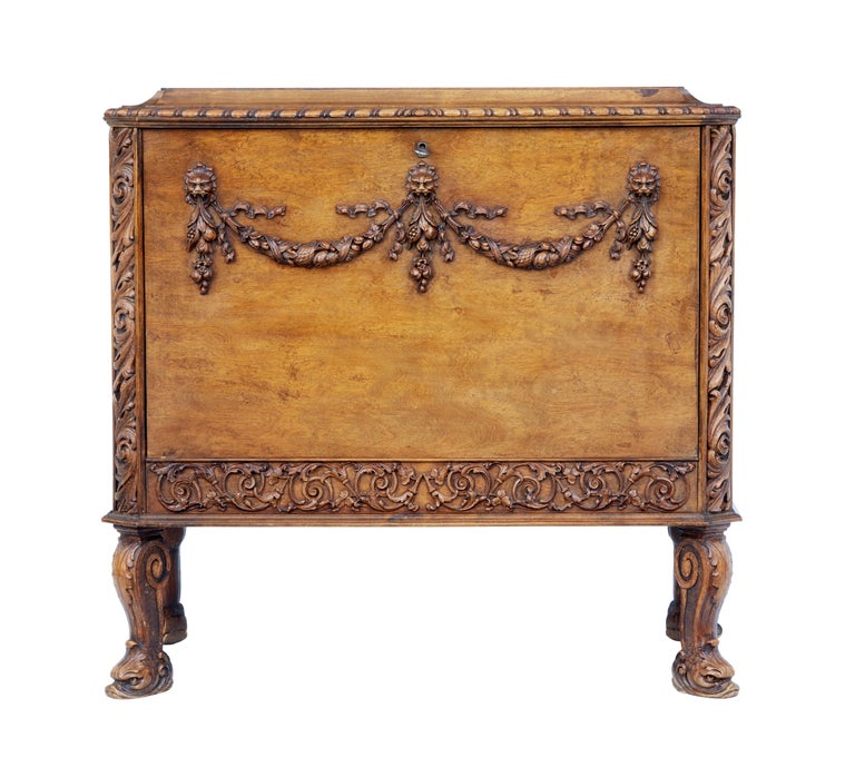 Mid-20th Century Rococo Revival Carved Walnut Chest of Drawers 2