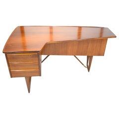 "Mid-20th Century Rosewood ""Boomerang"" Desk by Peter Løvig Nielsen Danish"