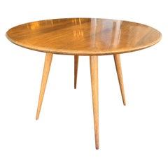 Mid-20th Century Round Walnut Dinning Table