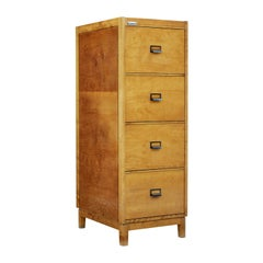 Mid-20th Century Scandinavian Birch Filing Cabinet