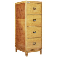 Mid-20th Century Scandinavian Birch Filing Cabinet
