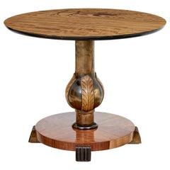 Mid 20th Century Scandinavian Birch Inlaid Occasional Table
