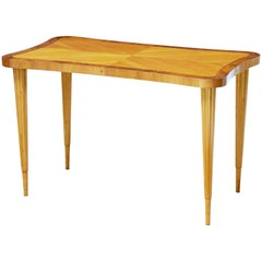 Mid-20th Century Scandinavian Birch Shaped Coffee Table