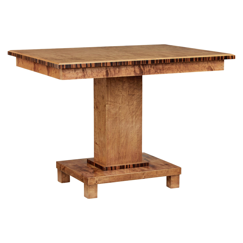 Mid 20th Century Scandinavian Birch Side Table