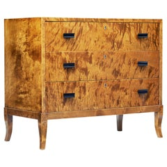 Mid-20th Century Scandinavian Burr Birch Chest of Drawers