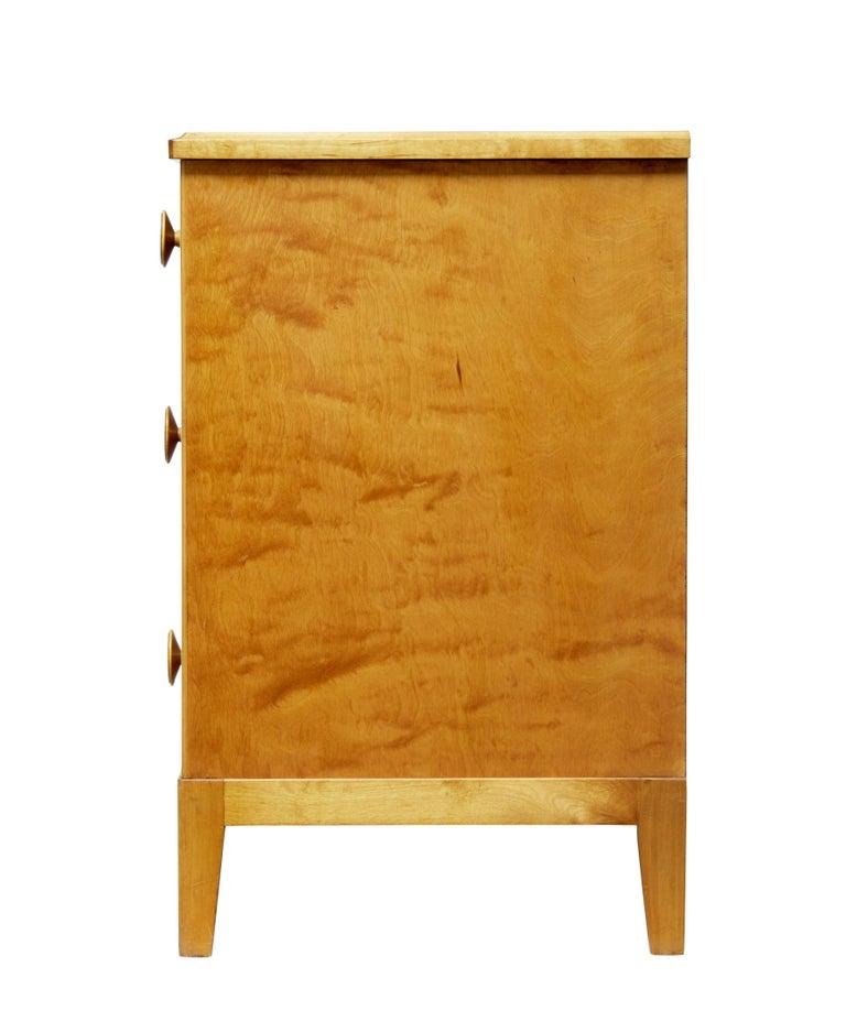 Mid-20th Century Scandinavian Design Birch Chest of Drawers In Good Condition For Sale In Debenham, Suffolk