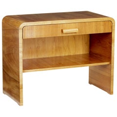 Mid-20th Century Scandinavian Elm Bedside Table