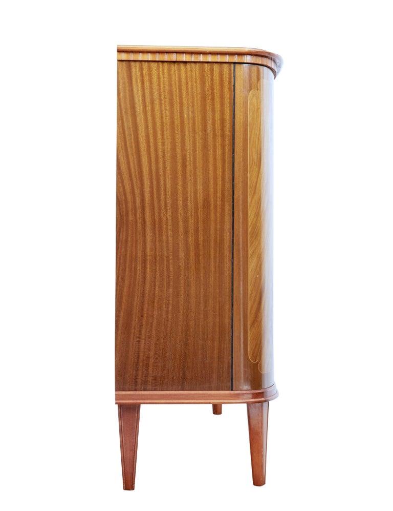 Swedish Mid-20th Century Scandinavian Flame Mahogany Sideboard For Sale