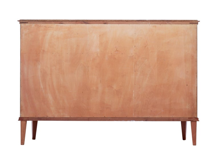Woodwork Mid-20th Century Scandinavian Flame Mahogany Sideboard For Sale