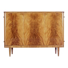 Mid 20th Century Scandinavian Flame Mahogany Sideboard