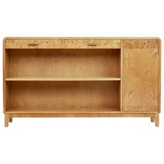 Mid-20th Century Scandinavian Modern Elm Low Bookcase