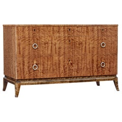 Mid-20th Century Scandinavian Satinwood Chest of Drawers