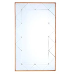 Mid-20th Century Scandinavian Teak Frame Mirror