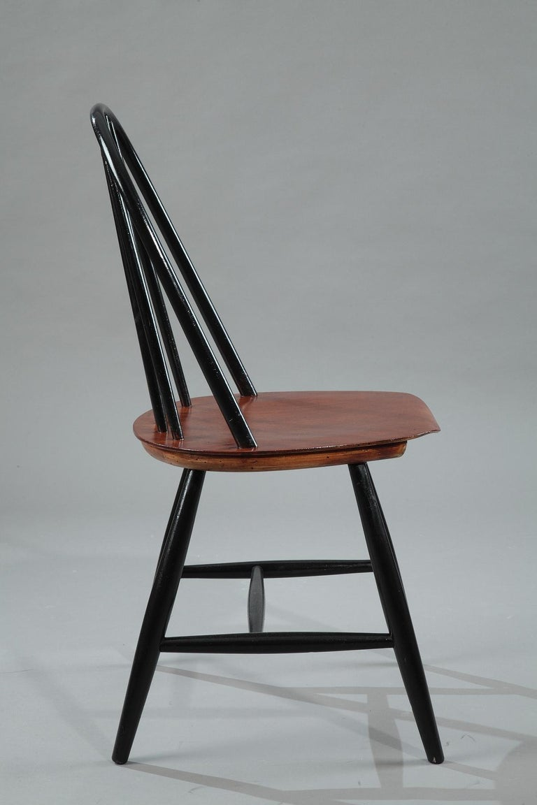 Mid-Century Modern Mid-20th Century Set of 4 Scandinavian Chairs by Haga Fors, Sweden For Sale