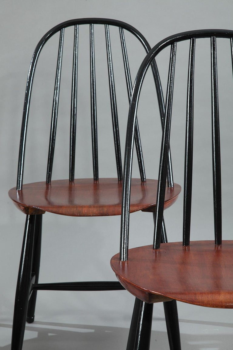 Swedish Mid-20th Century Set of 4 Scandinavian Chairs by Haga Fors, Sweden For Sale