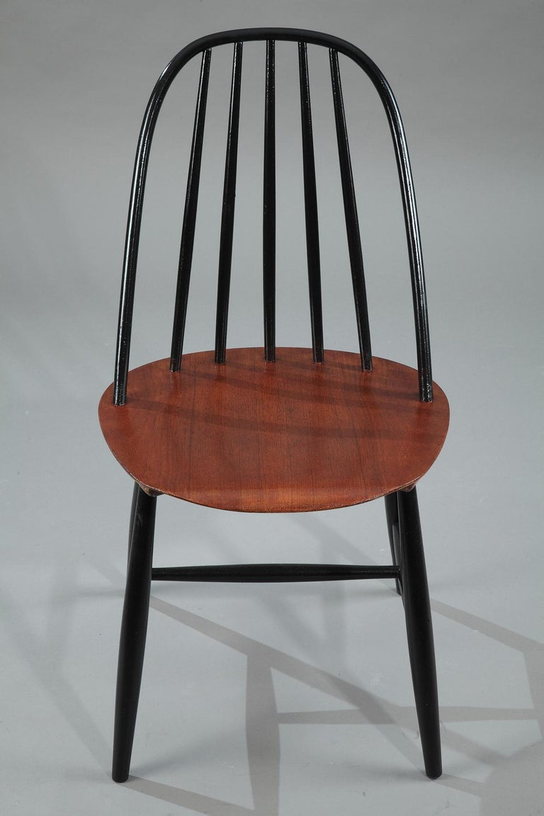 Mid-20th Century Set of 4 Scandinavian Chairs by Haga Fors, Sweden In Good Condition For Sale In Paris, FR