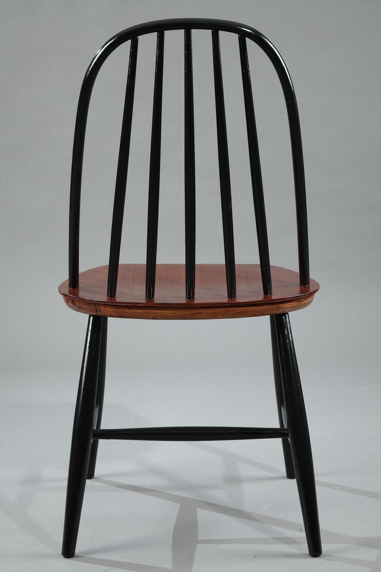 Mid-20th Century Set of 4 Scandinavian Chairs by Haga Fors, Sweden For Sale 1