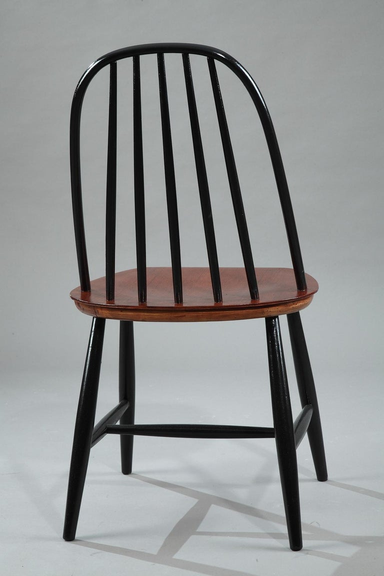 Mid-20th Century Set of 4 Scandinavian Chairs by Haga Fors, Sweden For Sale 2