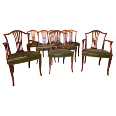 Mid-20th Century Set of 8 '6+2' Mahogany Chairs of Hepplewhite Design