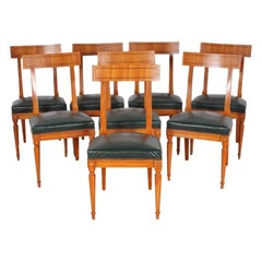 Mid-20th Century Set of Eight French Directoire Dining Chairs