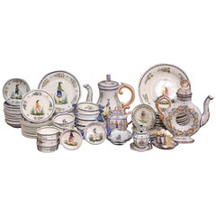 Mid-20th Century Set of Hand-Painted Henriot Quimper Dishes