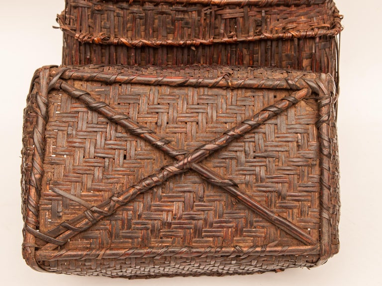 Mid-20th Century Shaman Basket with Hand Spun Netting, From the Tamang of Nepal For Sale 3