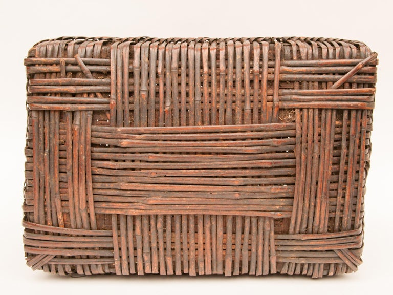 Mid-20th Century Shaman Basket with Hand Spun Netting, From the Tamang of Nepal For Sale 7