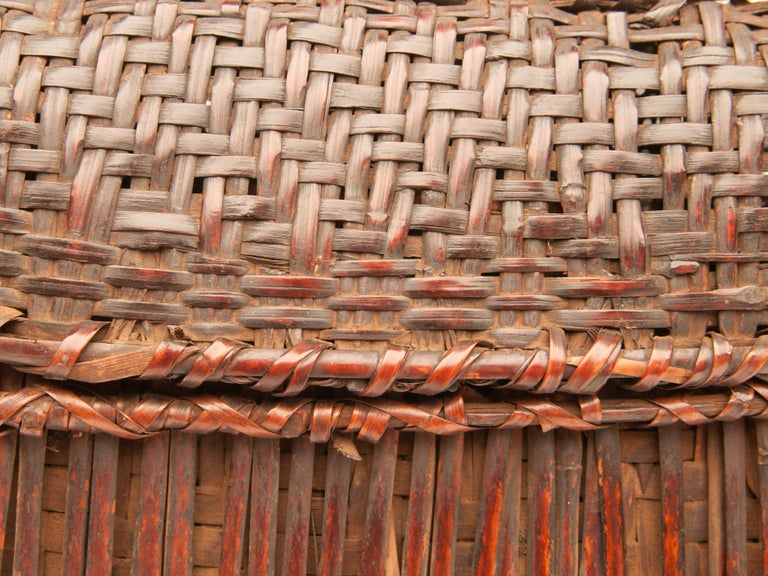 Mid-20th Century Shaman Basket with Hand Spun Netting, From the Tamang of Nepal For Sale 9