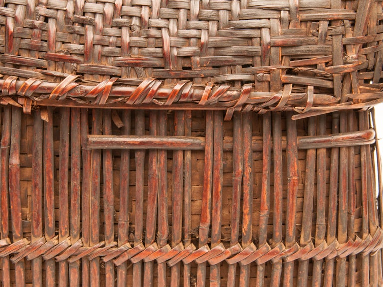 Mid-20th Century Shaman Basket with Hand Spun Netting, From the Tamang of Nepal For Sale 11
