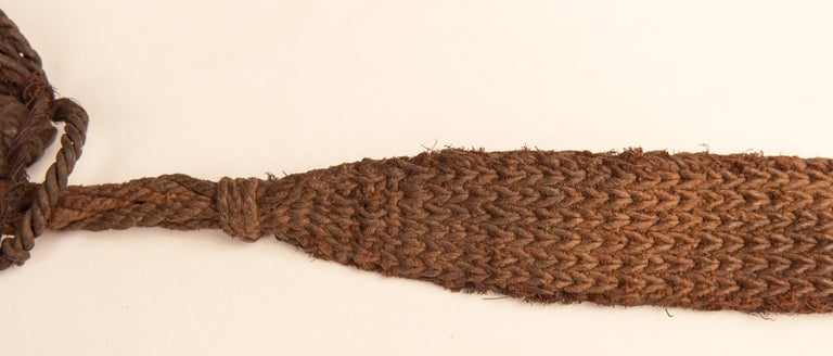 Mid-20th Century Shaman Basket with Hand Spun Netting, From the Tamang of Nepal For Sale 12