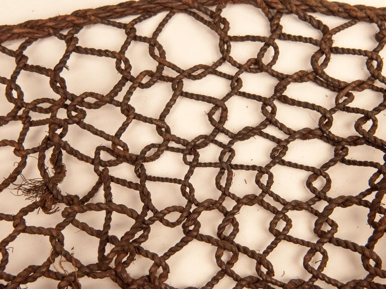 Mid-20th Century Shaman Basket with Hand Spun Netting, From the Tamang of Nepal For Sale 13