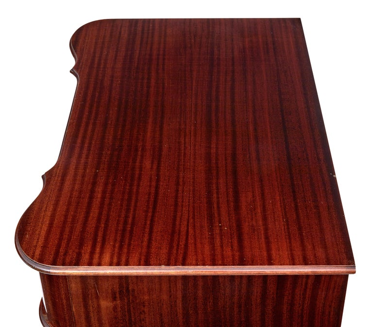 Mid-20th Century Shaped Mahogany Chest of Drawers 5
