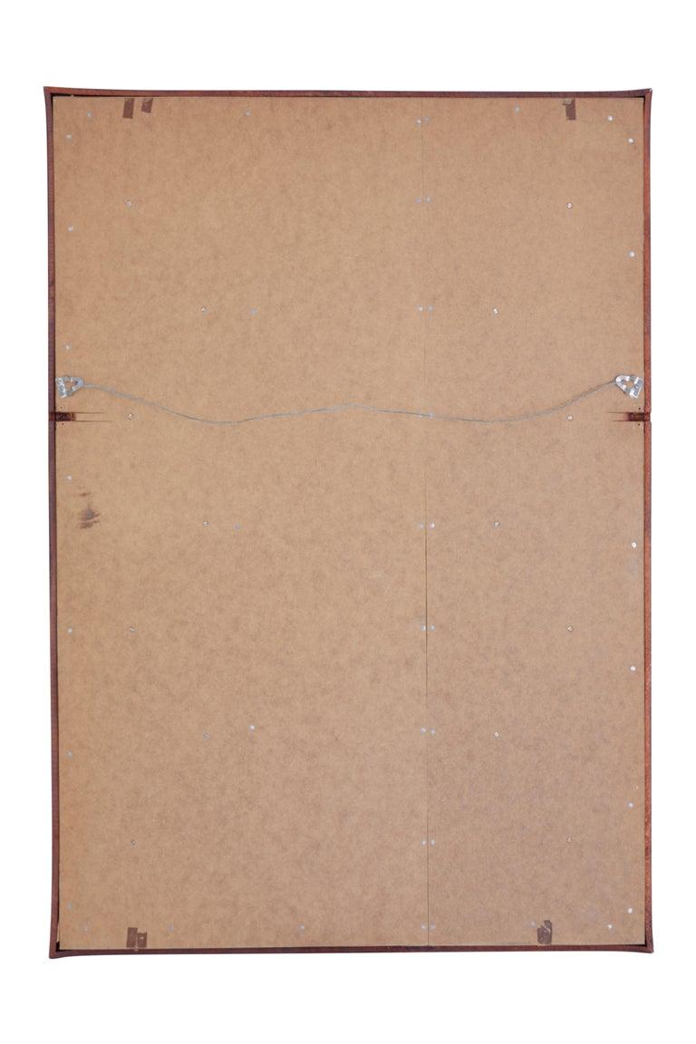 Swedish Mid-20th Century Shaped Scandinavian Teak Wall Mirror For Sale