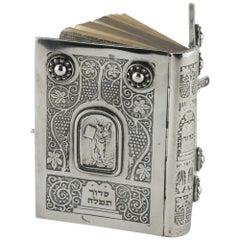 Mid-20th Century Siddur with Silver Book Binding by Bezalel School Jerusalem