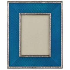 Mid-20th Century Silver & Enamel Vintage Photograph Frame by Christian Dior 1970