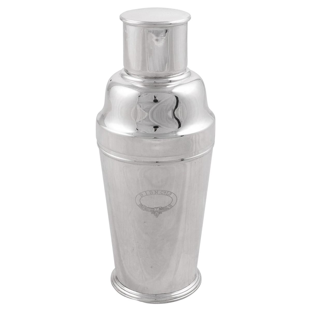 Mid 20th Century Silver Plated Cocktail Shaker, Mappin & Webb, c.1950