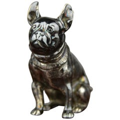 Mid-20th Century Silver Seated French Bulldog Figurine