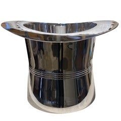 Mid-20th Century Silver Top Hat Champagne Bucket or Wine Cooler